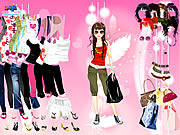 Click to Play Pink Feather Dress Up