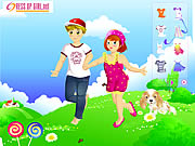 Click to Play Kids Couple on Field