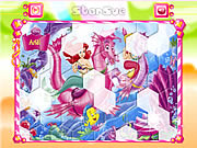Click to Play Princess Ariel Hexagon Puzzle